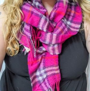 Burberry Accessories - Pink Burberry Scarf in Check Pattern